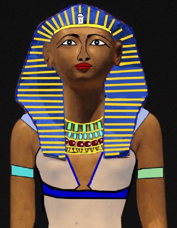 queen hatshepsut female pharaoh Rare depiction of female pharaoh hatshepsut found in egyptian artifact during her reign, the queen was depicted as a female with a long dress.